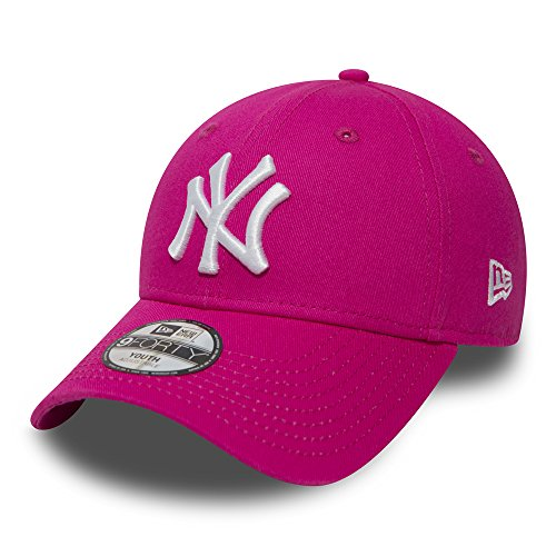 New Era Kinder Jungen Baseball Cap Mütze Strapback MLB Basic New York Yankees 9Forty Adjustable Unisex CHLD Pink