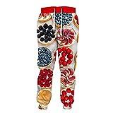 Plato de Fruta Colorido de los Hombres Que Imprime los Pantalones Deportivos 3D TYWKLJJ409 5XL