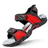 Sandalias para niño Sandalias Deportivas Zapatillas de Trekking y Senderismo Unisex Niños(E Rojo,35 EU)