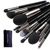 Makeup Brushes Sets, EIGSHOW Vegan Makeup Brushes Cruelty-Free Soft Synthetic Bristles for Foundation Blending Face Powder Lip Blush Contour Eyeshadow(Vegan 10pcs Nickel-plated)