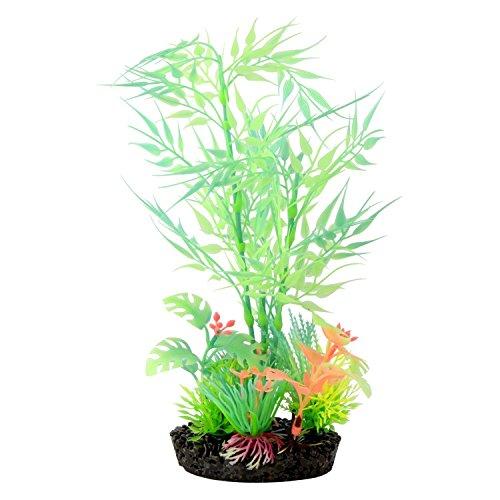 Saim® Aquarium Glow in the Dark Fish Tank - Pianta artificiale in bambù per acquario Glow Plants