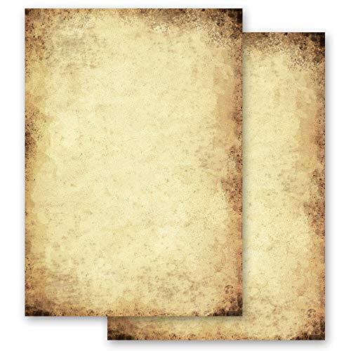 20 Blatt Briefpapier Antik & History ALTES PAPIER - DIN A4 Format - Paper-Media