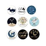 9 Set Ramadán Mubarak Pegatinas Ramadán Kareem Decoraciones Tarjetas DIY Islámica Musulmán Decoración Ramadán Suministros de Decoración
