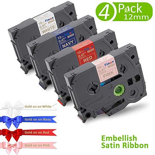 Nastro in Tessuto Fimax Compatibile In sostituzione di Brother P-touch 12mm 0.47 TZe-R234 TZe-RN34 TZe-RW34 TZe-RE34 Laminato Tape Cassetta per TZ Tape Ptouch H105 1000 PT-107B H110 H100R 1005 1010