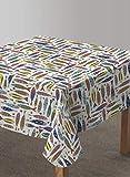 Vilber, Mantel de Tela confeccionado, Cuadrado, Resinado, con Tratamiento Antimanchas, Impermeable, Estampado SARDINAS. SANTOÑA-R10, Multicolor