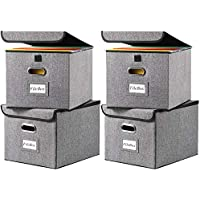 4-Pack Herneat Multi-purpose Linen File Storage Box