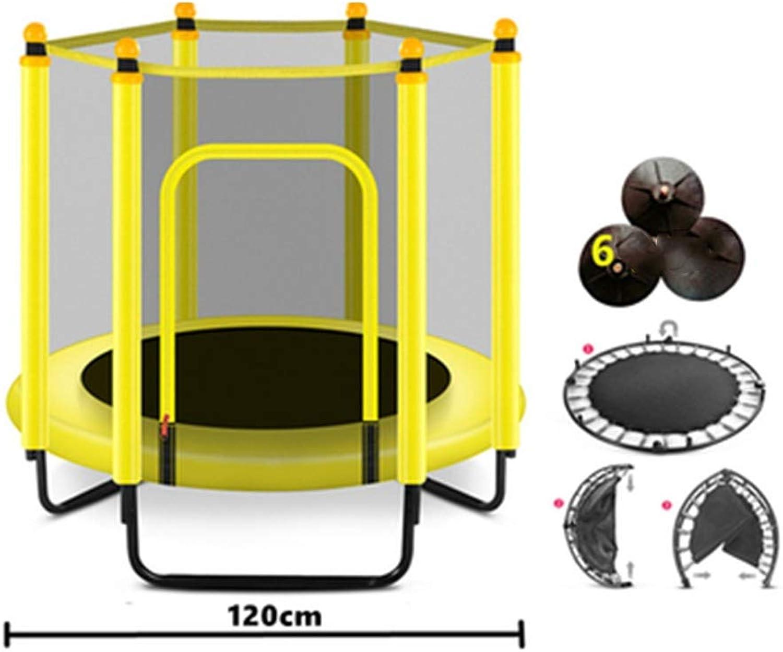Caixia Trampolin, Trampolin - 60 mit Leitplanke für den Innen- und Auenbereich - Sicherheitsnetz - Babytrampolin