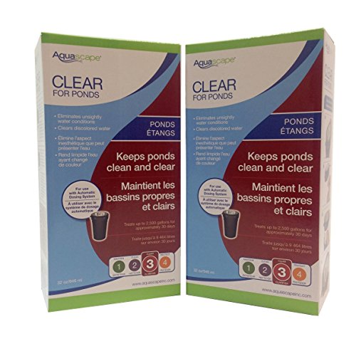 Aquascape 2-Pack of Clear for Ponds 32 Ounce Refill Automatic Dosing System Clarifies Water with Fish and Plants Safely