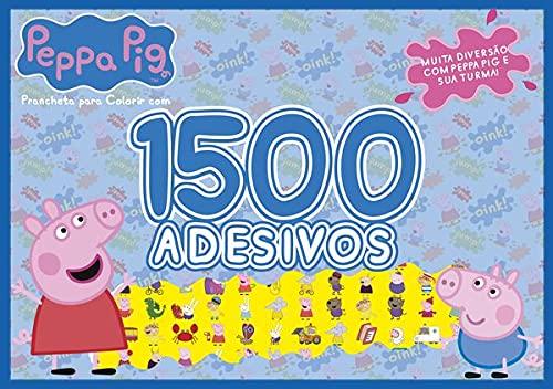Peppa Pig - Prancheta Para Colorir com 1500 Adesivos