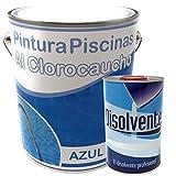 KIT PINTURA PISCINAS CLOROCAUCHO, 1ª CALIDAD. (Pintura + Disolvente). Para Piscinas de Cemento u Hormigón.