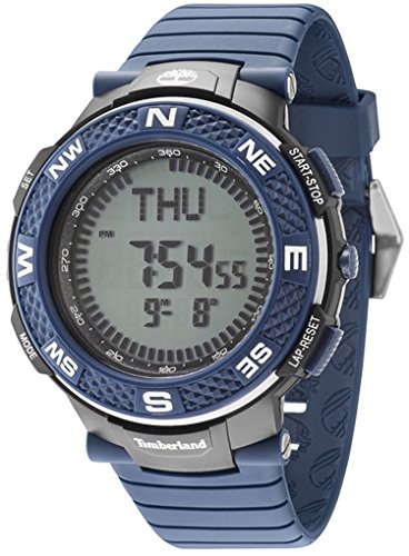 Timberland Mendon Reloj para Hombre Digital de Cuarzo con Brazalete de Silicona 15027XPBBU-04P