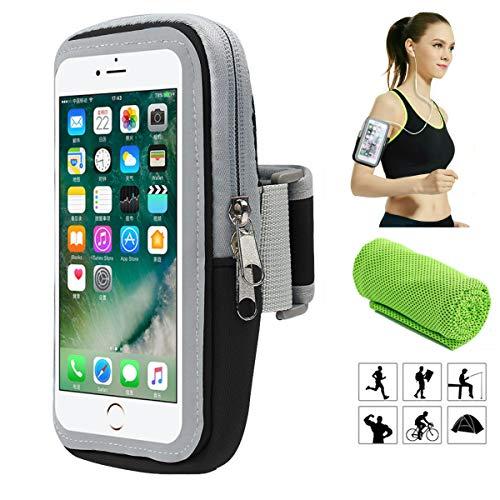 Brazalete deportivo,Universal Impermeable Teléfono Móvil Brazo Bolsa de Viaje Cartera Bolsa,para Deportes al aire libre/correr/Fitness,para iphone/Samsung Galaxy/Moto/Huawei/Xiaomi/etc y Otros Moviles