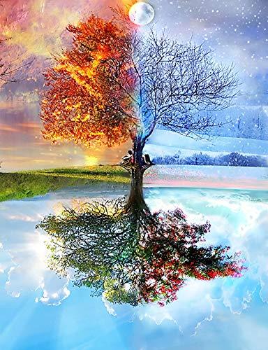 RDFSF 1000 Teile Puzzle Vier-Jahreszeiten-Baum Puzzle Kreative Schwierige Große Puzzle Pädagogisches Stressfreisetzung Spielzeug Für Erwachsene Kinder
