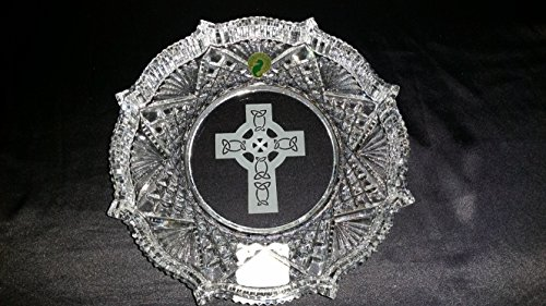 WATERFORD CRYSTAL CELTIC CROSS 8' PLATE