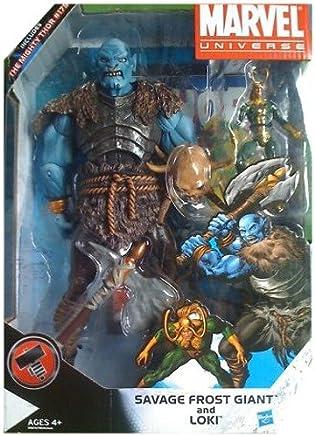 Amazon com: Savage Frost Giant vs  Loki Marvel Universe