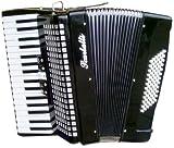 Scarlatti - Acordeón de 72 bajos, color negro