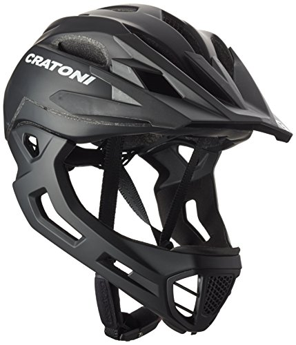 Cratoni C-Maniac Casco, Unisex Adulto, Negro Mate, Small/Medium/52-56 cm