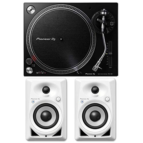 Find Cheap Pioneer PLX-500 Direct Drive Black DJ Turntable+DM-40BT-W 4 Bluetooth Speakers