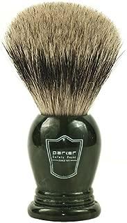 Parker Safety Razor King Size 100% Pure Badger Bristle Shaving Brush - Brush Stand Included