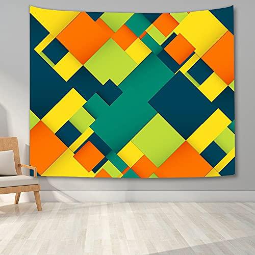 KHKJ Tapiz de Pared Colorido Dormitorio 3D Tela Escocesa para Colgar en la Pared Tapiz de Fondo para Sala de Estar hogar Dormitorio decoración de la Pared A3 230x180cm