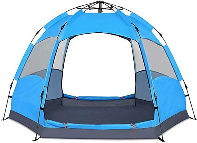 WOOLIY Tente De Randonnée Familiale Instantanée 3 Tente De Randonnée Légère Et Pliable pour 4 Personnes,bleu