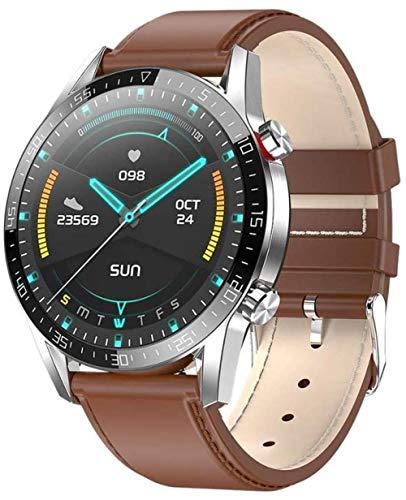 Reloj inteligente Ip68 impermeable Bluetooth pulsera inteligente ECG+PPG frecuencia cardíaca reloj inteligente inteligente para Android 5.0 y superior e iOS 8.0 y superior, uso diario A