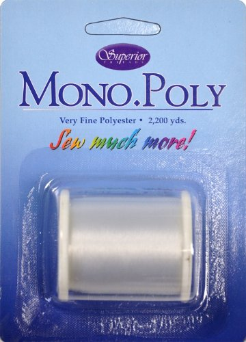 Superior Threads MonoPoly Invisible Thread 2200 yds Spool; 01 Clear 119-01-Clear