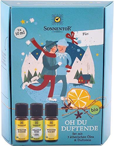 Sonnentor Oh du Duftende ätherische Öle Geschenkset, bio, 3 x 10ml