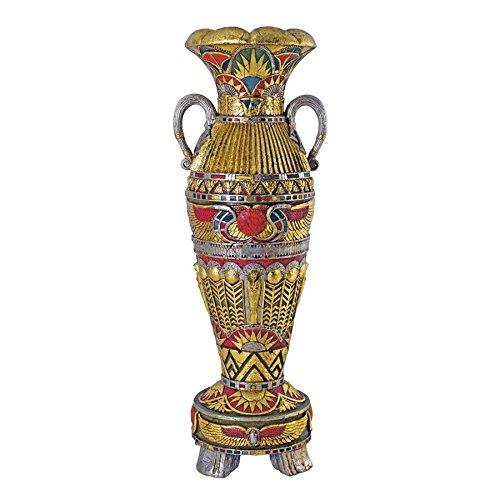 Design Toscano Temple de Luxor Statue d'urne égyptien de Grande Taille, Multicolore, 47 x 56 x 153,5 cm