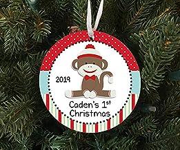 Christmas Xmas Decor 2020 Ornament Personalized 1st Xmas Monkey Ornament Keepsake - Custom Made to Order - 2020 Xmas 2020