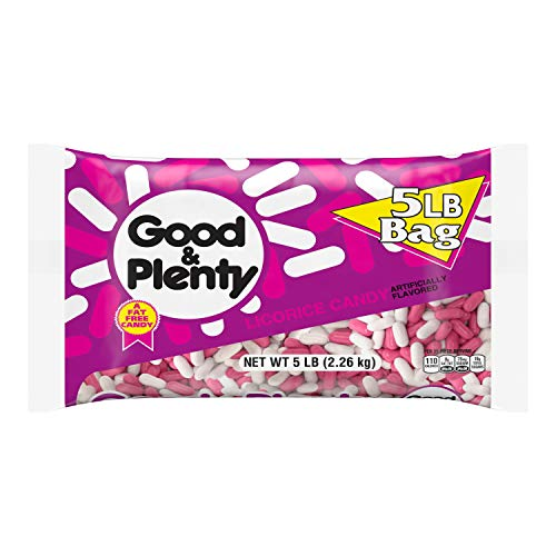 GOOD & PLENTY Licorice Flavored Candy, Easter, 80 oz Bulk Bag from Hershey's