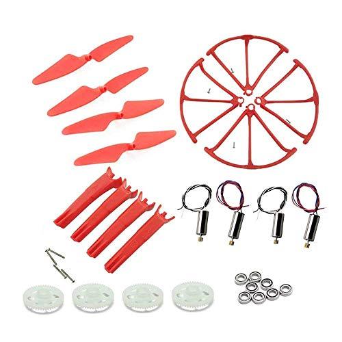 YNSHOU Funzionale Elica per Hubsan H502S H502E H216A H502T H507A rc Drone Ingranaggi + Cuscinetto + Motori + Elica ECC Pezzi di Ricambio Accessori per droni (Colore: Set Bianco) (Colore: Set Rosso)