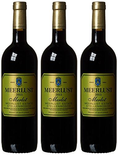 Meerlust Wine Estate Merlot 2014/2015 trocken (3 x 0.75 l)
