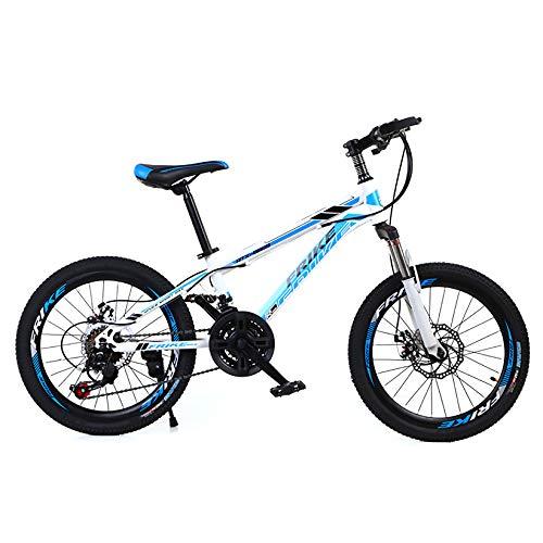 ZPEE Plegable Acero De Alto Carbono Niños'bicicletas,Neumático De Grasa Al Aire Libre Bicicleta De Montaña,Frenos De Doble Disco Camino Bicicletas Todoterreno para Los Niños Studens