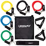 Resistance Bands Set (12 Piece) Includes Door Anchor, Ankle, Wrist Strap, Exercise Guide and...