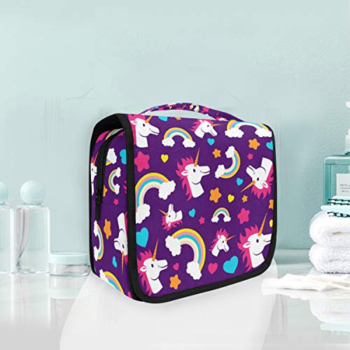 Maquillage Sac Cosmétique Amour Nuage Dessin Animé Rainbow Licorne Portable Stockage Voyage Trousse De Toilette