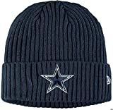 New Era Dallas Cowboys NFL Sideline Core Classic Cold Weather Sport Knit Cuffed Knit Beanie One Size Fits Most Cap Hat OSFM (Navy Blue)