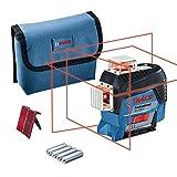 Bosch Professional Nivel Láser GLL 3-80 C, láser Rojo, interior, conexión Bluetooth, alcance hasta 30m, 4 pilas AA, en caja