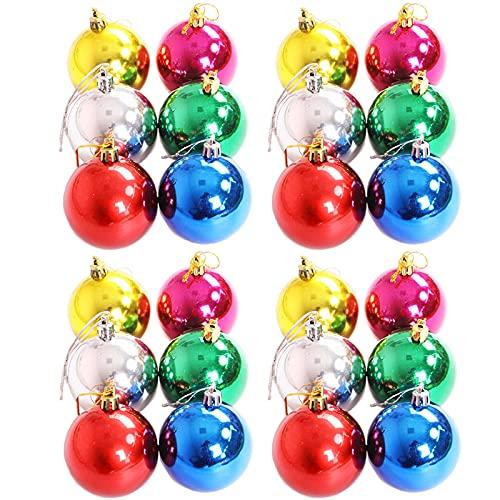 Bolas De Navidad Azules Bolas De Navidad Personalizadas Adornos De Bolas De áRbol De Navidad Inastillables 24 Piezas, Reutilizables, Bolas De Navidad,Decoraciones para Fiestas NavideñAs,6 Colores
