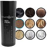 Fibras Capilares - Keratin Fibers 100% Natural para Disimular Calvicie y Aumentar el volumen. Maquillaje Capilar por hombres y mujeres - 25 Gramos Neto (MARRÓN CLARO)