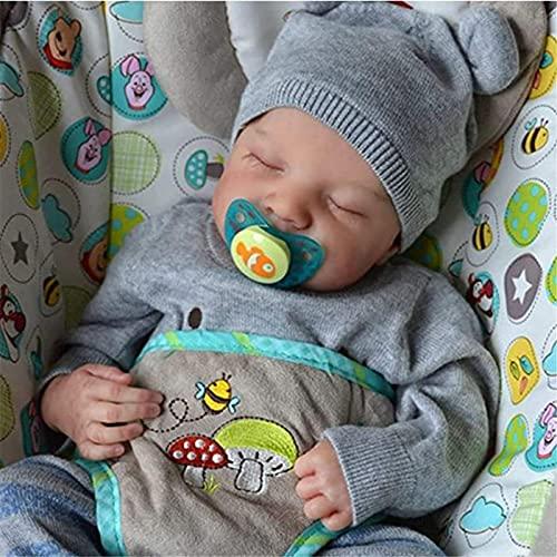 19 Pulgadas Muñeca Bebes Reborn Silicona Cuerpo Completo Blanda Reborn Muñecos Bebé Recién Lavable Nacido Hecho A Mano Regalo De Juguete Baby Doll Bebe Reborn Niña Ojos Cerrados