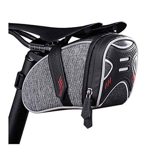 Fiets zadeltas, Portable demontage Fiets Waterproof Storage zadeltas, reflecterende strip ontwerp Seat Bike Cycling staart achter Pouch