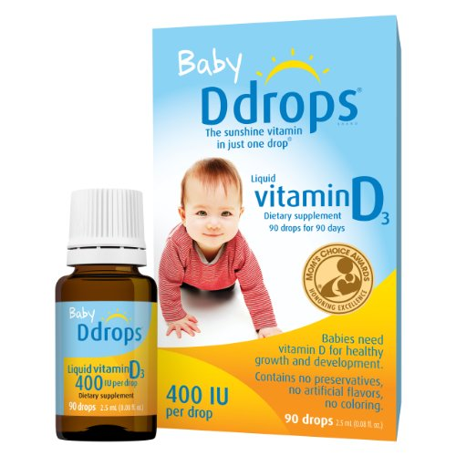 Baby Ddrops® 400 IU 90 Drops (0.08 Fl Oz) - Liquid Vitamin D3 Drops Supplement for Infants