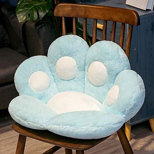 Cojín rosa de alta calidad, cojín de felpa para asiento de silla con forma de pata de gato, cojín trasero Cojín de oficina grueso y cómodo para taburete