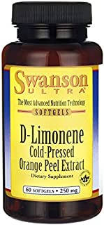 Swanson D-Limonene Cold-Pressed Orange Peel Extract 250 mg 60 Sgels