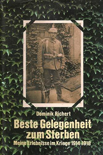 BESTE GELEGENHEIT ZUM STERBEN (German Edition)