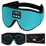 MUSICOZY Sleep Headphones 3D Bluetooth 5.0 Wireless Headband Sleep Mask, Sleeping Headphones Music Eye Mask for Side Sleepers, Air Travel, Built-in Ultra Thin Speakers Microphones Noice Cancelling