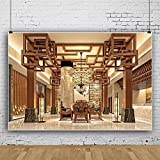 Foto Fondos Decoración Real Araña Antiguo Piso Pilar Fondo para Fotografía Interior Estudio Foto-3 x 2 m