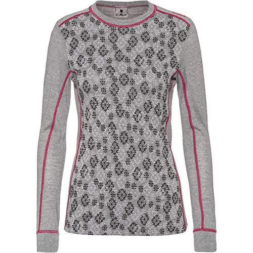 CMP Damen Funktionsunterhemd 38Y4046 Unterhemd, Argento Mel-Nero-B.Gesso, 40
