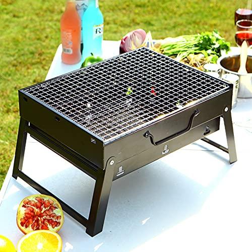 51iCKuDVK8S. SL500  - Jiaojie Holzkohlegrill für den Haushalt, zusammenklappbar, tragbar, Einweggrill, für den Außenbereich, schwarzer Stahlofen